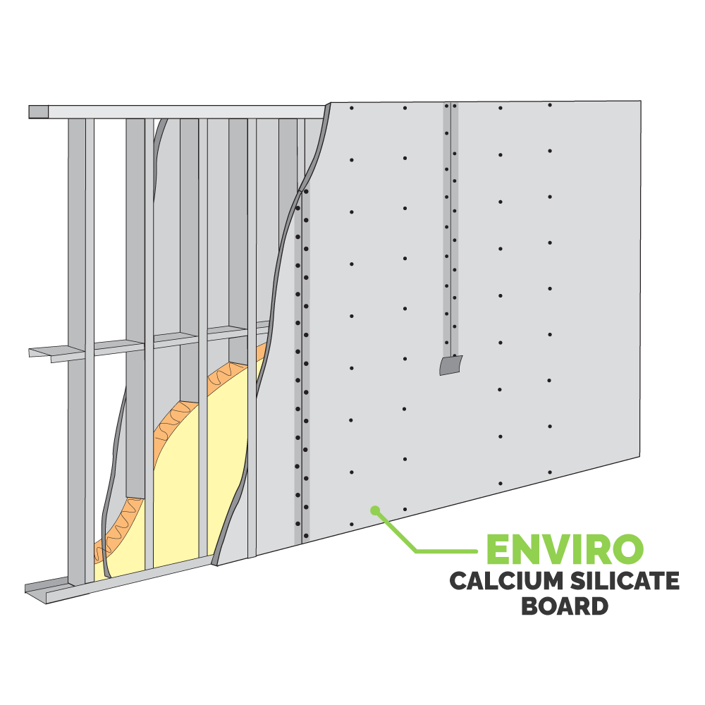 Enviro Calcium Silicate Board being used in partition wall.